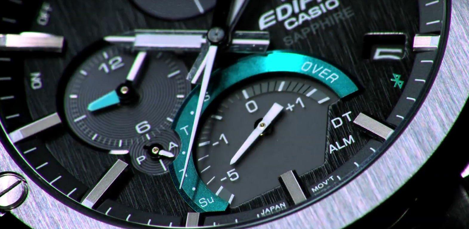 Zaawansowana technologia w zegarku Edifice pozwala pobierać energię z promieni słonecznych.