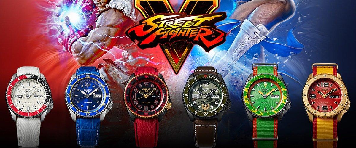 Kultowa gra Street Fighter - inspiracją dla zegarków Seiko 5
