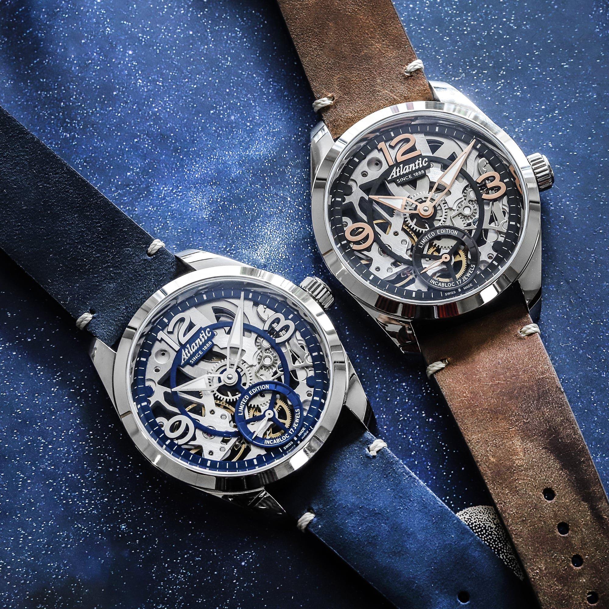 Niesamowite zegarki Atlantic wykonane sztuką szkieletowania.