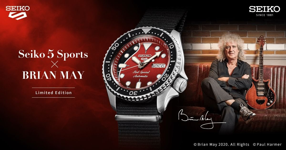 "Limitowany SEIKO 5 Sports Brian May ""Red Special"""