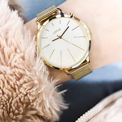 Złota elegancja z zegarkiem Lorus RG204KX9.