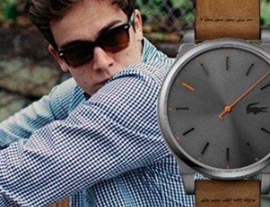 Męski zegarek jesienny na skórzanym pasku
