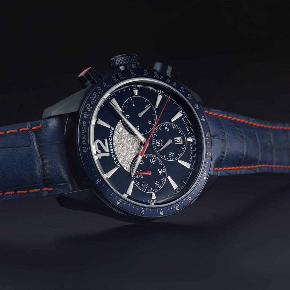 Zegarek Sturmanskie z księżycowym motywem na tarczy