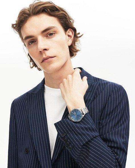 Zegarek Lacoste na srebrnej bransolecie