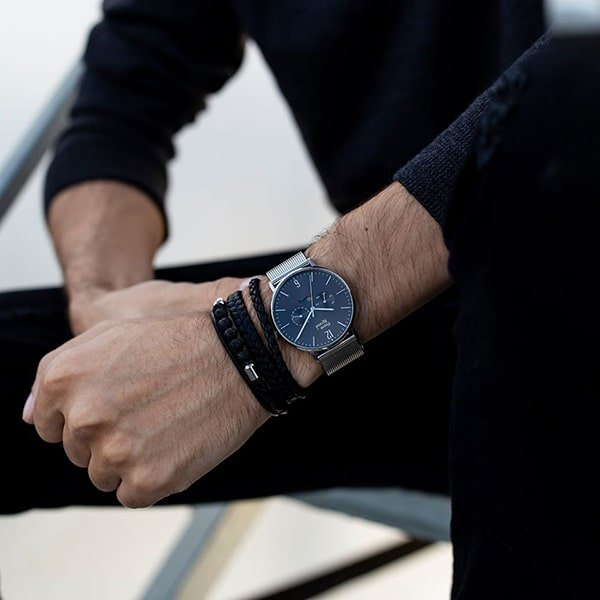 zegarek pierre ricaud na bransolecie mesh