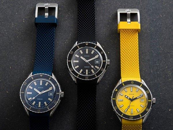 Dbałość o szczegóły w zegarkach Doxa męskie