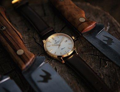 Męska biżuteria, czyli zegarki Atlantic Sealine w kolorze złota