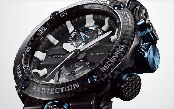 Idealny zegarek dla pilotów G-Shock GWR-B1000 z niska wagą.