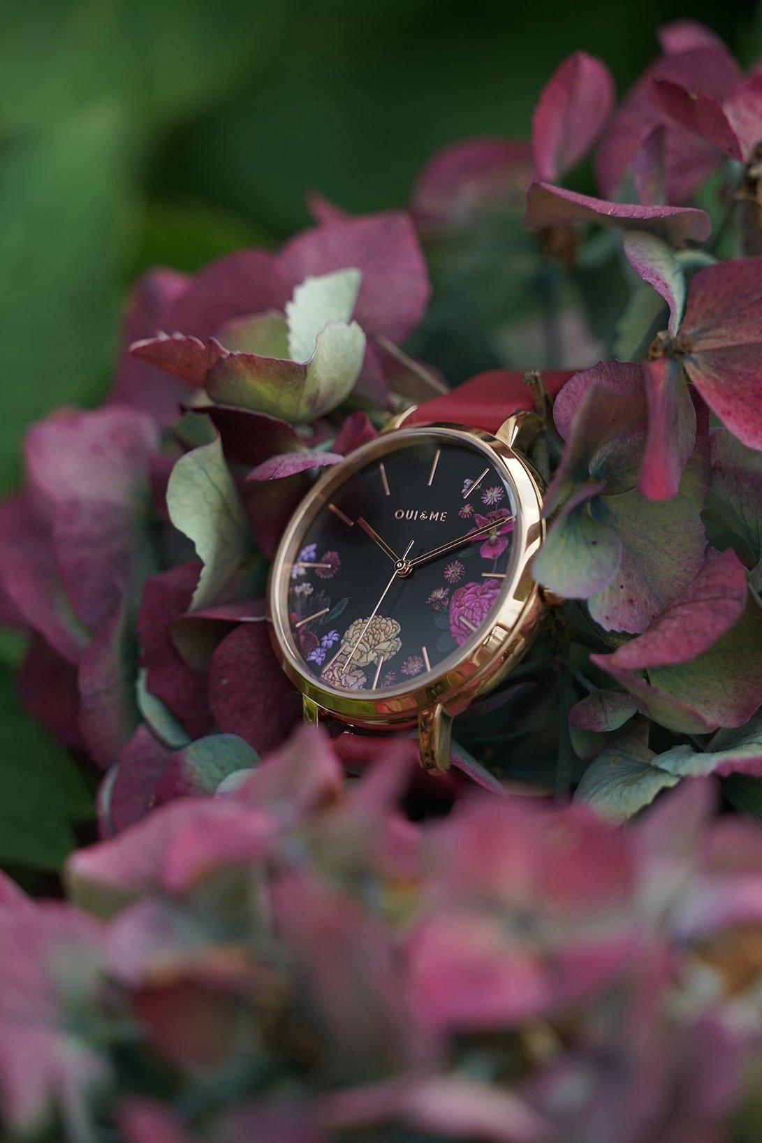Kwiatowy zegarek Oui&Me