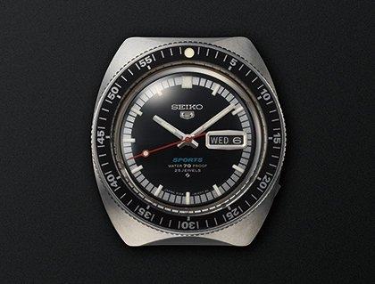 Pierwszy zegarek Seiko 5 Sports z 1968 roku.