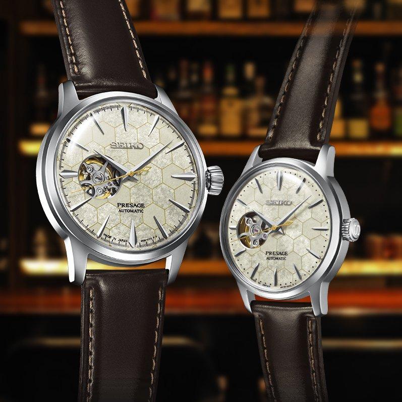 Luksusowy zegarek Seiko Presage Honeycomb uzupełniony o niezawodny japoński mechanizm z naciągiem automatycznym.