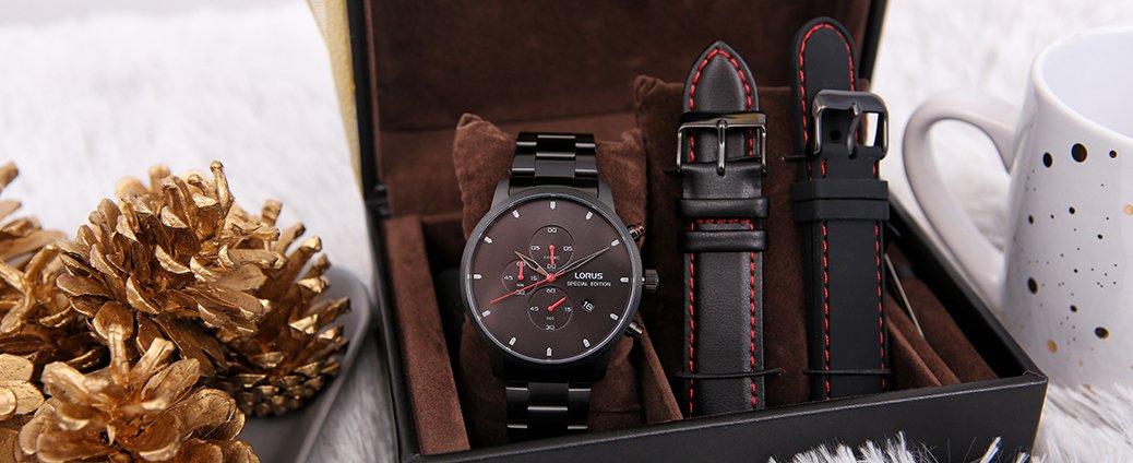Zegarek Lorus RM329FX9 w zestawie z dwoma paskami idealny prezent dla niego.