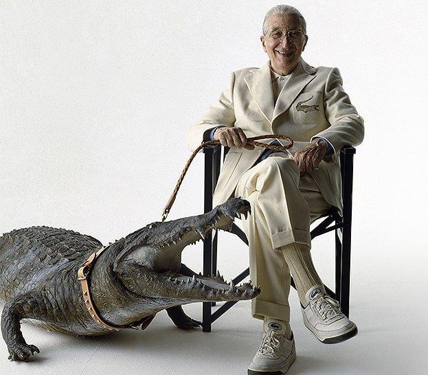 założyciel marki Lacoste- Rene Lacoste w dzisiejszych czasach.