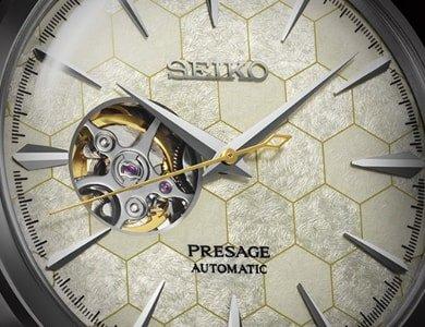 Zegarek z motywem plastra miodu - Seiko Presage Honeycomb