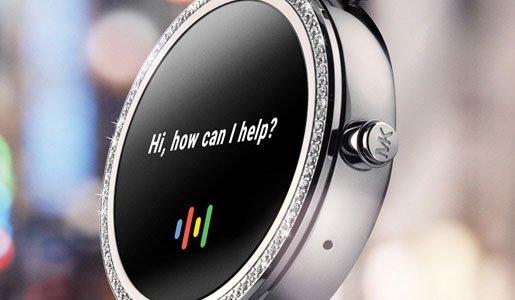 Smartwatch pozwalający przy pomocy poleceń głosowych na wyszukanie wielu potrzebnych informacji.