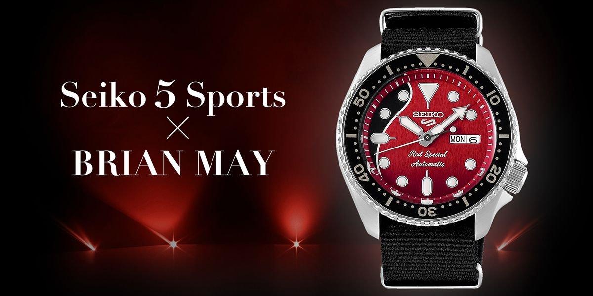 Specjalna edycja zegarka SEIKO 5 SRPE83K1 Sports Automatic Brian May