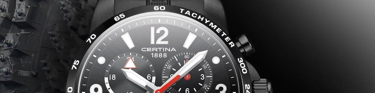 Zegarek Certina z Tachometrem