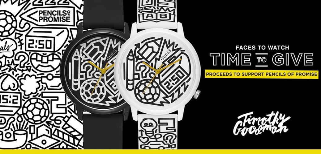 Zegarki marki Guess z grafiką znanego nowojorskiego artysty Timothy Goodman.