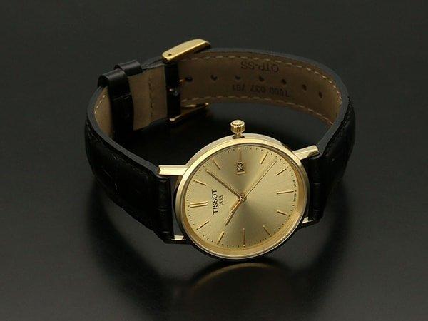 Prestiżowe złote zegarki dla mężczyzn na skórzanych paskach