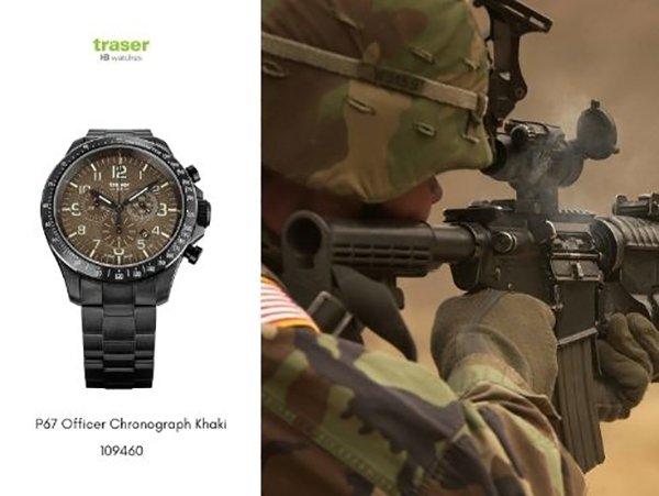 W piaskach pustyni z zegarkiem Traser