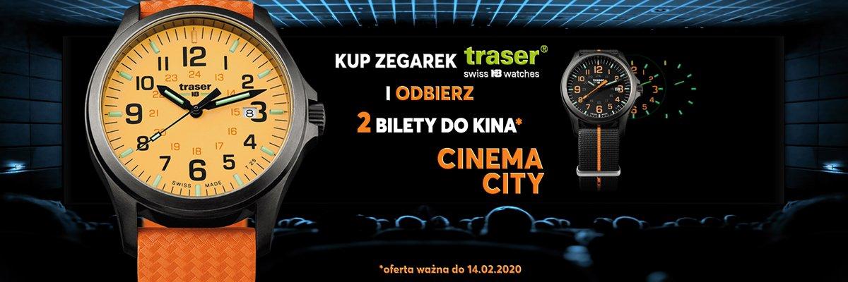 Kup zegarek Traser i odbierz bilet do kina