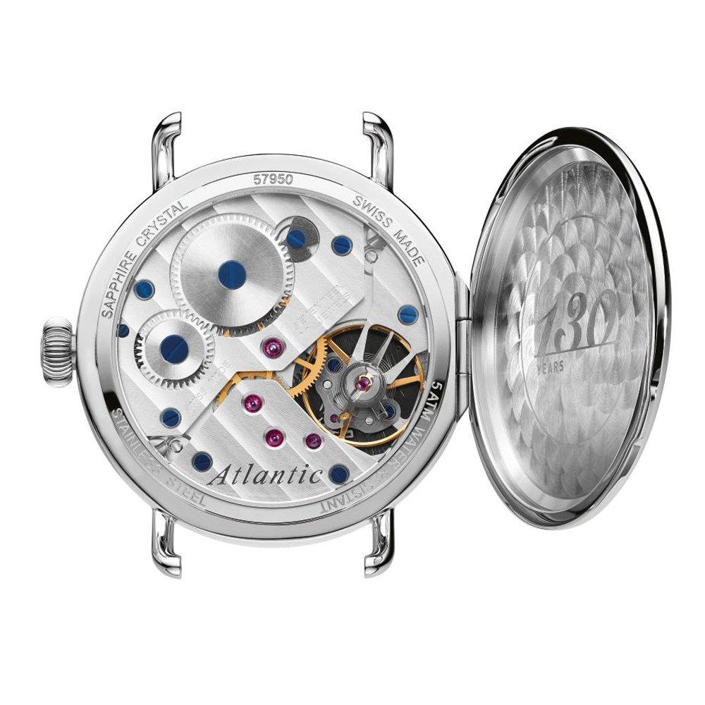 Mechanizm zegarka Atlantic Worldmaster nie wykorzystuje baterii ani kryształu kwarcu do tego, by działać.
