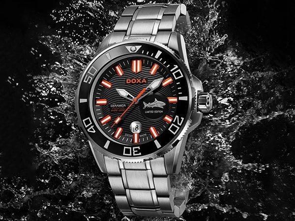 Sportowy zegarek Doxa Shark Ceramica