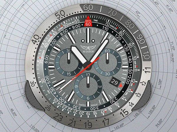 Super jakość zegarków marki Aviator