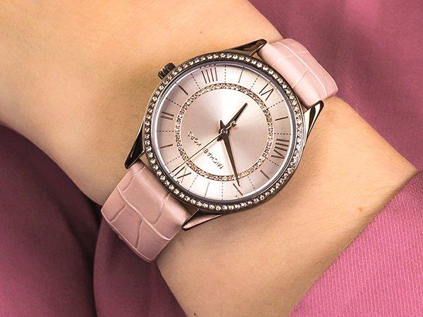 Zegarek Michael Kors na skórzanym pasku w różowym kolorze