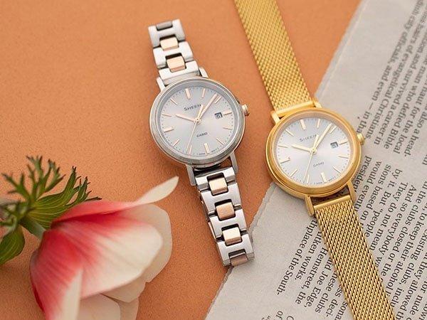 Budowa damskich zegarków Casio Sheen