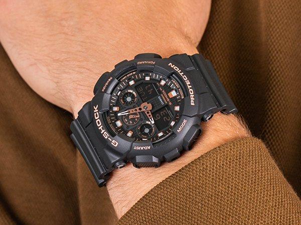 Zegarek G-shock w czarnym kolorze z różowymi detalami