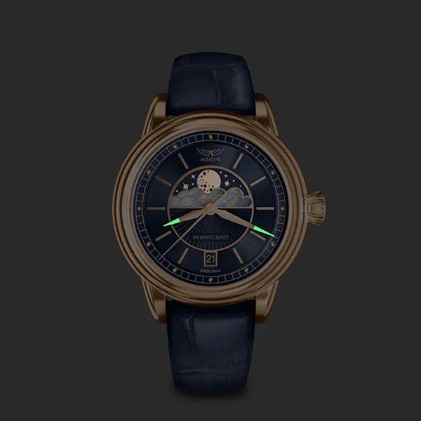 Po drugiej stronie nieba – kobiece zegarki Aviator Moonflight