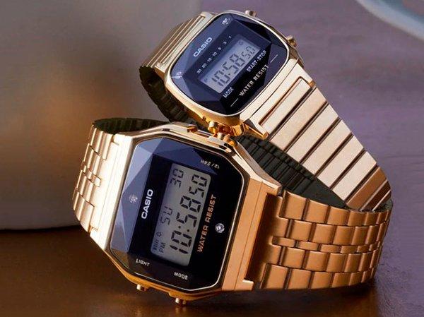 Rodzaje zegarków Casio damskich na bransolecie