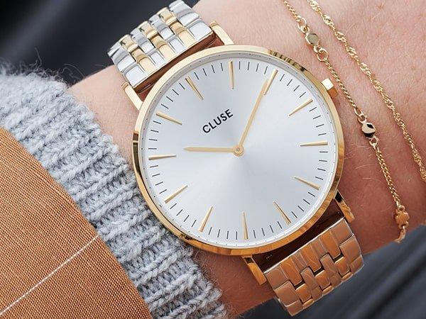 Zegarki Cluse na bransolecie