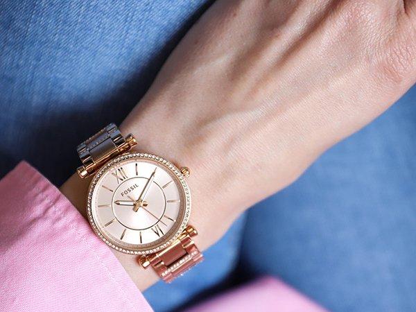 Fossil Carlie jako gustowne zegarki
