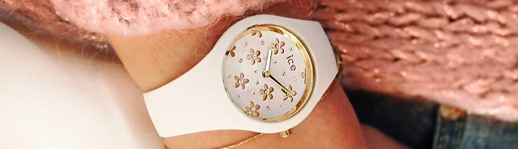 Damski zegarek Ice Watch na gumowym pasku.