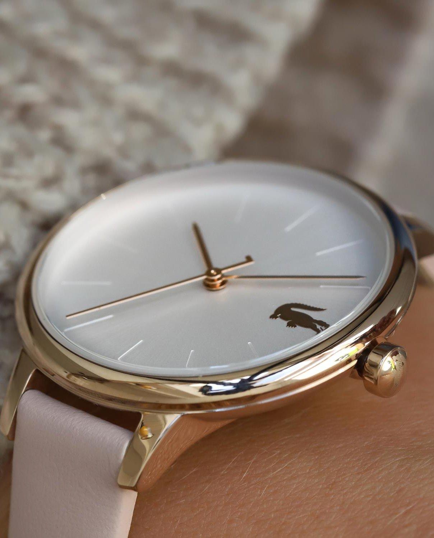 Damski zegarek Lacoste na różowym pasku