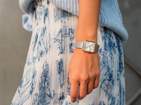 Zegarki Meller z kwadratową tarczą