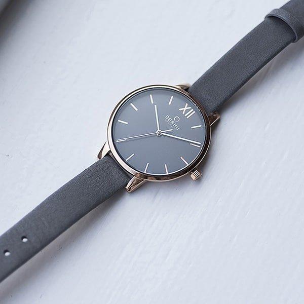 Zegarek Obaku Denmark na szarym pasku