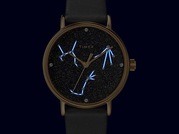 Gwieździsty zegarek Timex Celestial Opulence