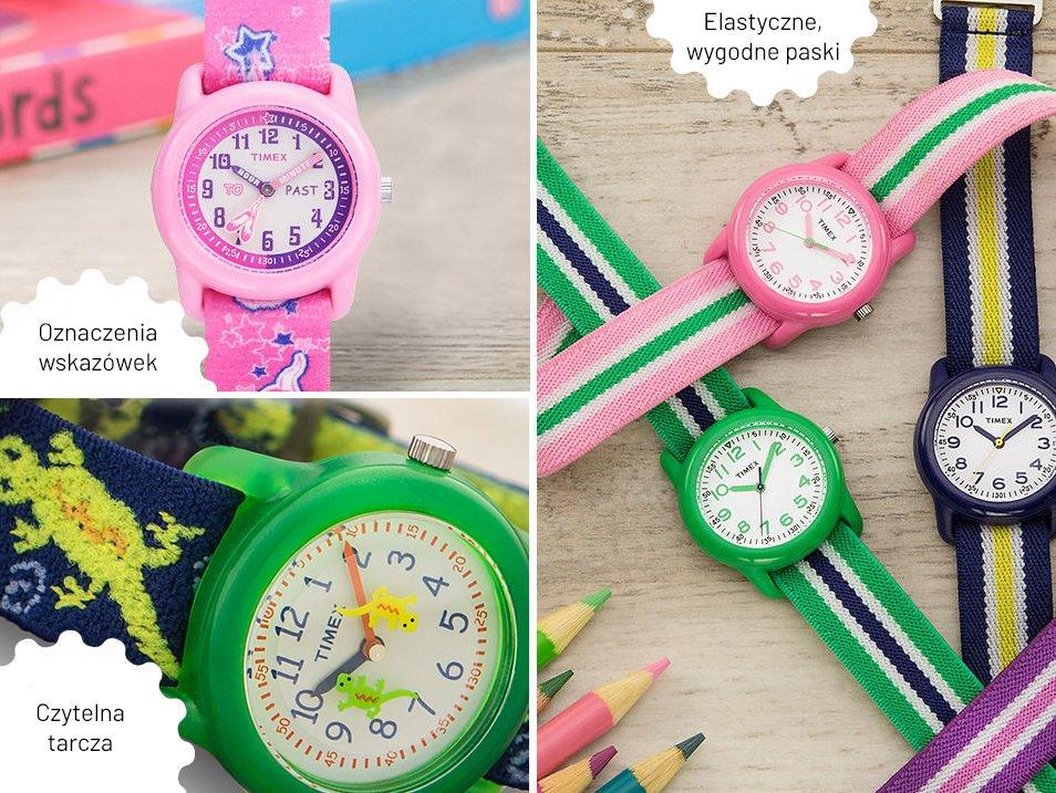 Kolorowe zegarki dla dzieci.