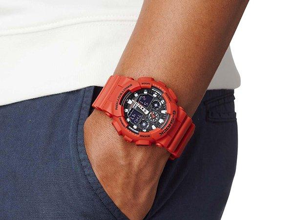 Designerski G-Shock w czerwonym kolorze