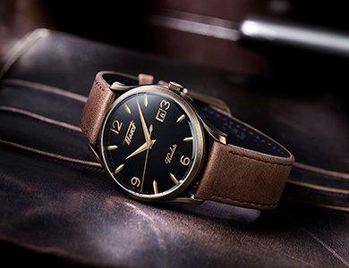 Eleganckie zegarki Tissot Heritage Visodate Quartz w stylu retro