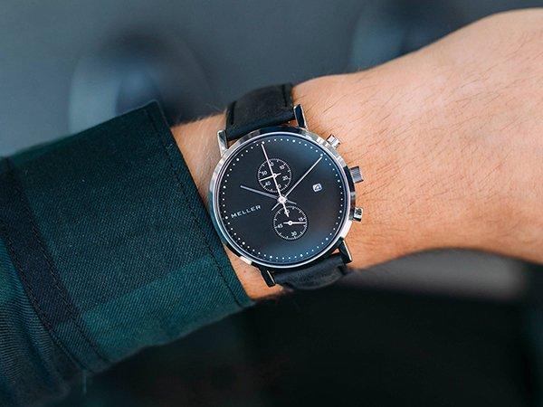Czarny zegarek marki Meller z kolekcji Makonnen