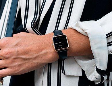 Zegarek z kwadratową kopertą stylowym dodatkiem dla kobiet