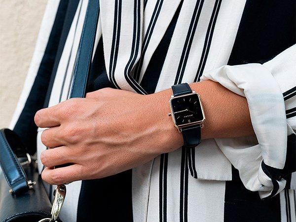 kwadratowy kształt kopert w zegarkach Meller