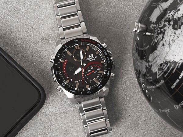 Zegarek Casio na bransolecie przeznaczony dla prawdziwych mężczyzn.
