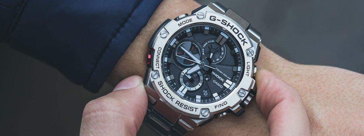 Zegarek G-Shock zasilany energią słoneczną.