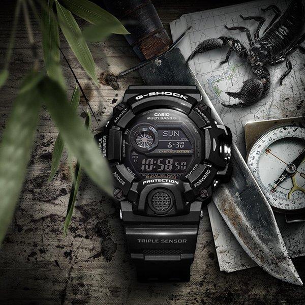 Wielofunkcjonalny G-Shock Rangeman w czarnym kolorze.