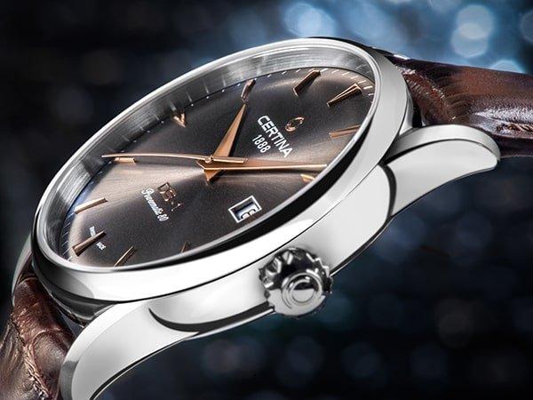 Elegancki zegarek certina ze sportową duszą.